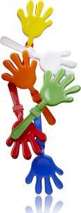 Klapperhand in verschiedenen Farben